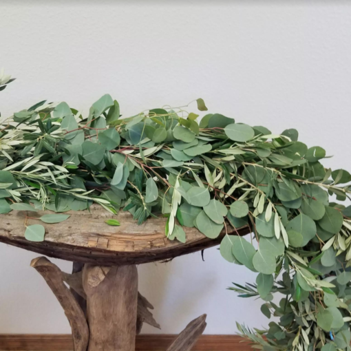 Eucalyptus (2) and Olive 12.95 per ft